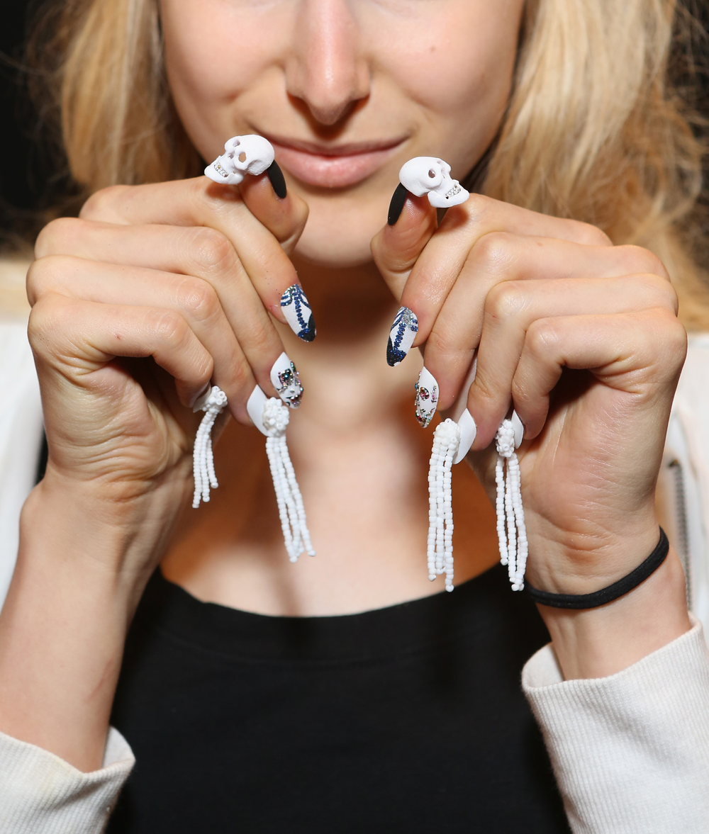<p>CND unveiled an eclectic assortment of eye-catching nail designs at Libertine&rsquo;s Spring/Summer 2015 Fashion Show at Lincoln Center in New York City. Photo courtesy of CND.</p>