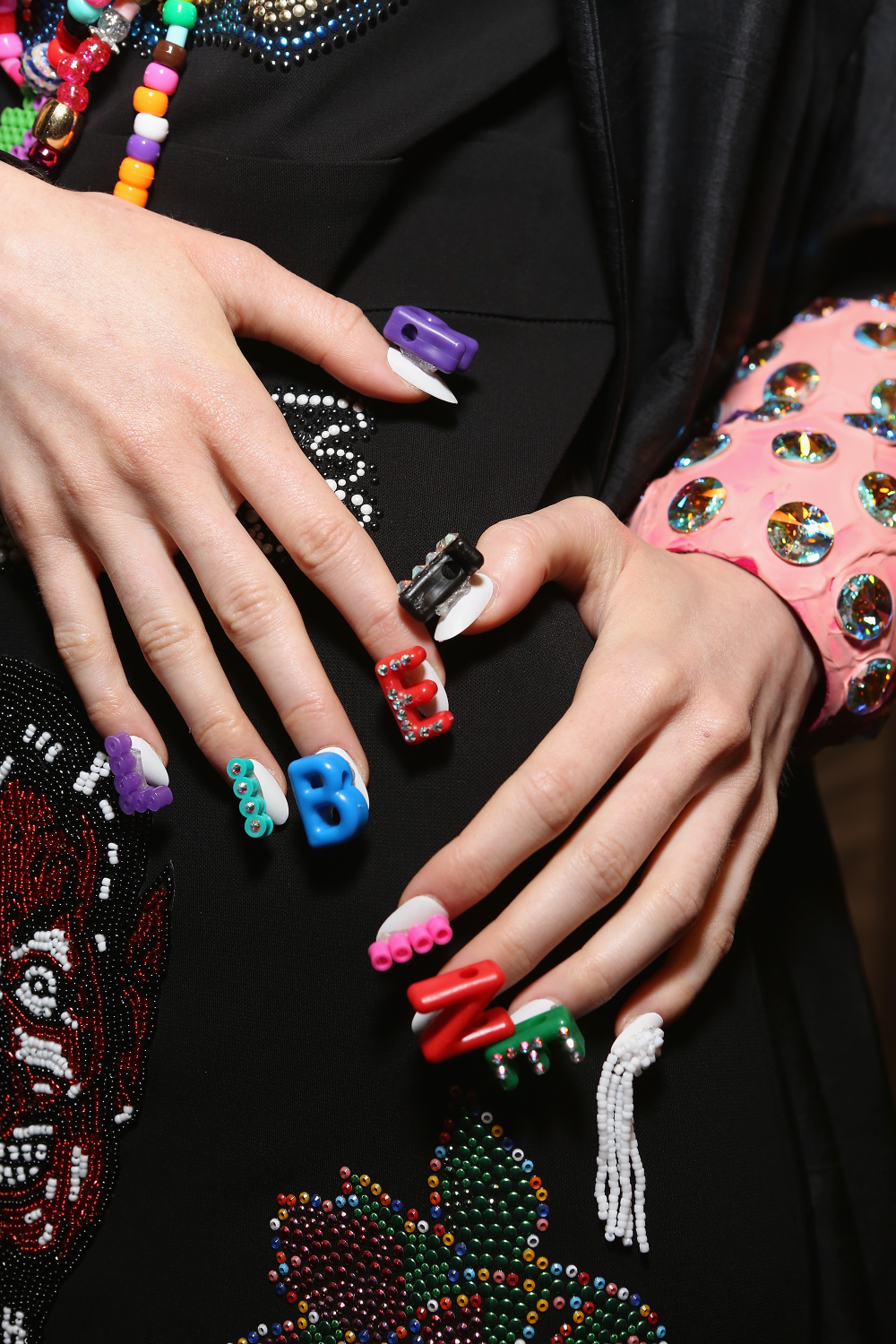 <p>The clothing and nails at Libertine represented elements of both punk rock and royalty.Photo courtesy of CND.</p>