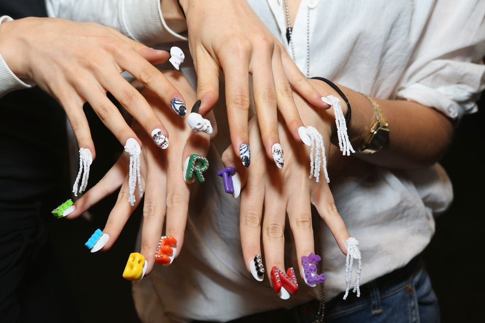 """<p>""""The nails were the exclamation point for this collection,"""" said Libertine designer Johnson Hartig. Photo courtesy of CND.</p>"""