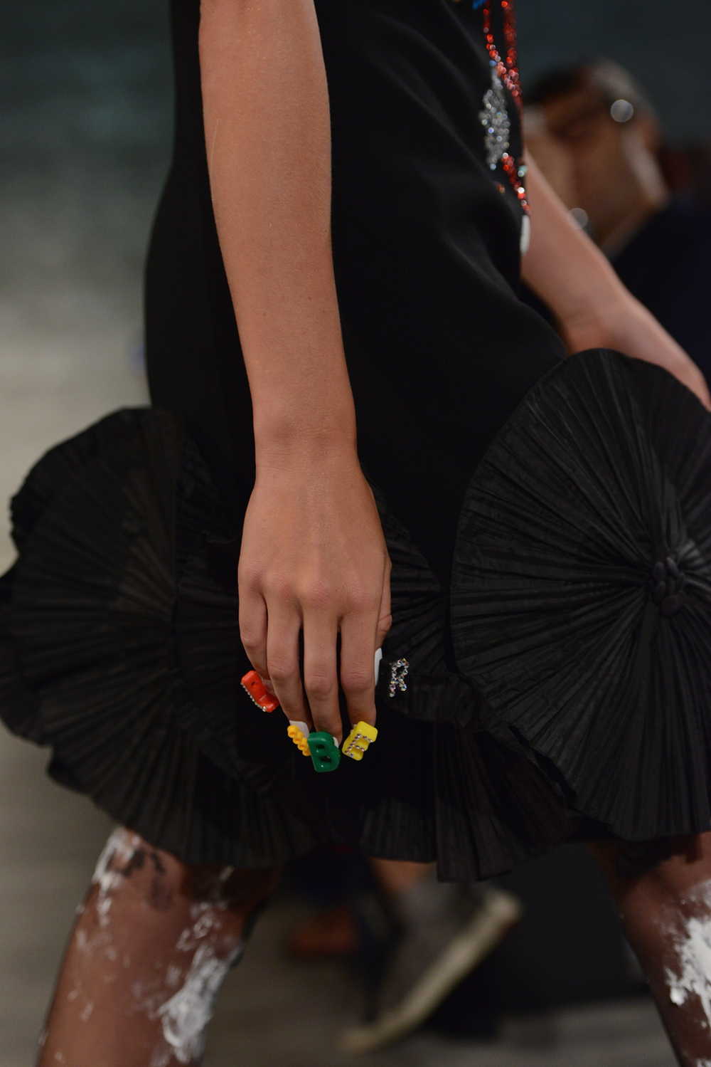 <p>Some models sported jewel-encrusted lettering that spelled out &ldquo;LIBERTINE!&rdquo; across both hands. Photo courtesy of CND.</p>