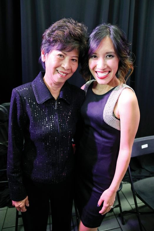 <p>Advance Beauty College co-owner Linh Nguyen (right) enjoyed the evening with her mother, Kien Tam Nguyen.</p>