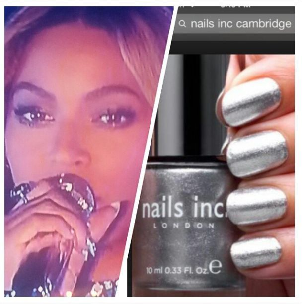 <p>Logan used Nails Inc. in Cambridge to make Beyonce's nails sparkle. Image via @lisa_logan.&nbsp;</p>