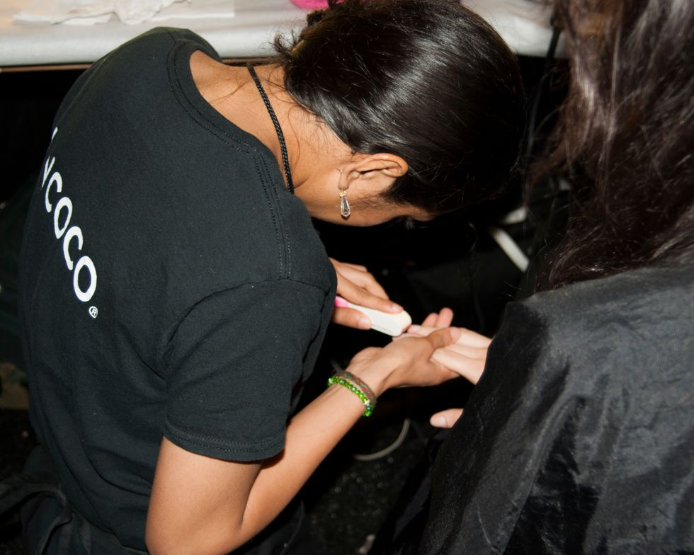 <p>Incoco returned backstage to Vivienne Tam for a seventh season.&nbsp;Photo courtesy of Incoco.&nbsp;</p>
