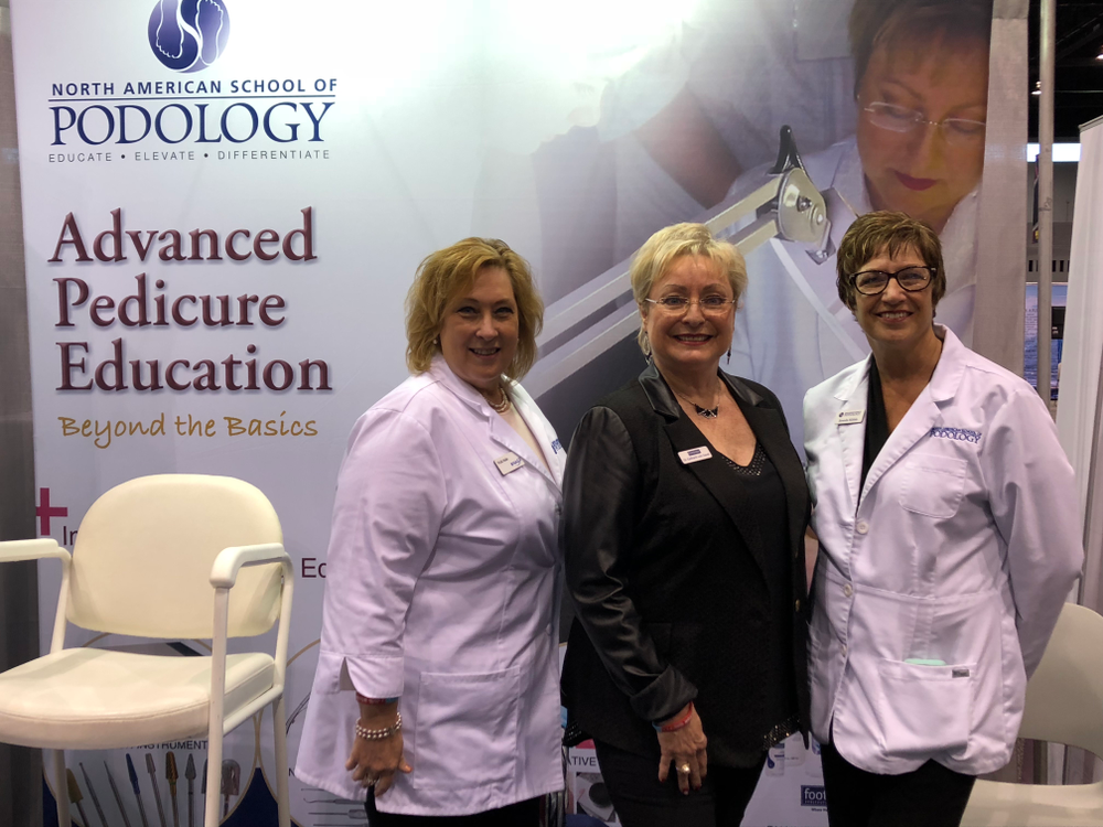 <p>North American School of Podology's Vicki Malo, Footlogix' Katherine Von Gavel, and Brenda Ribble discussed NAILS upcoming Foot Forward Summit.</p>