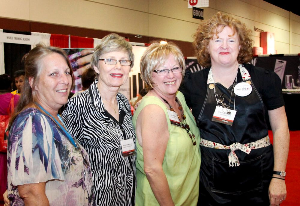 <p>Debbie Doerrlamm, Janet McCormick, Vicki, Cyndy Drummey</p>