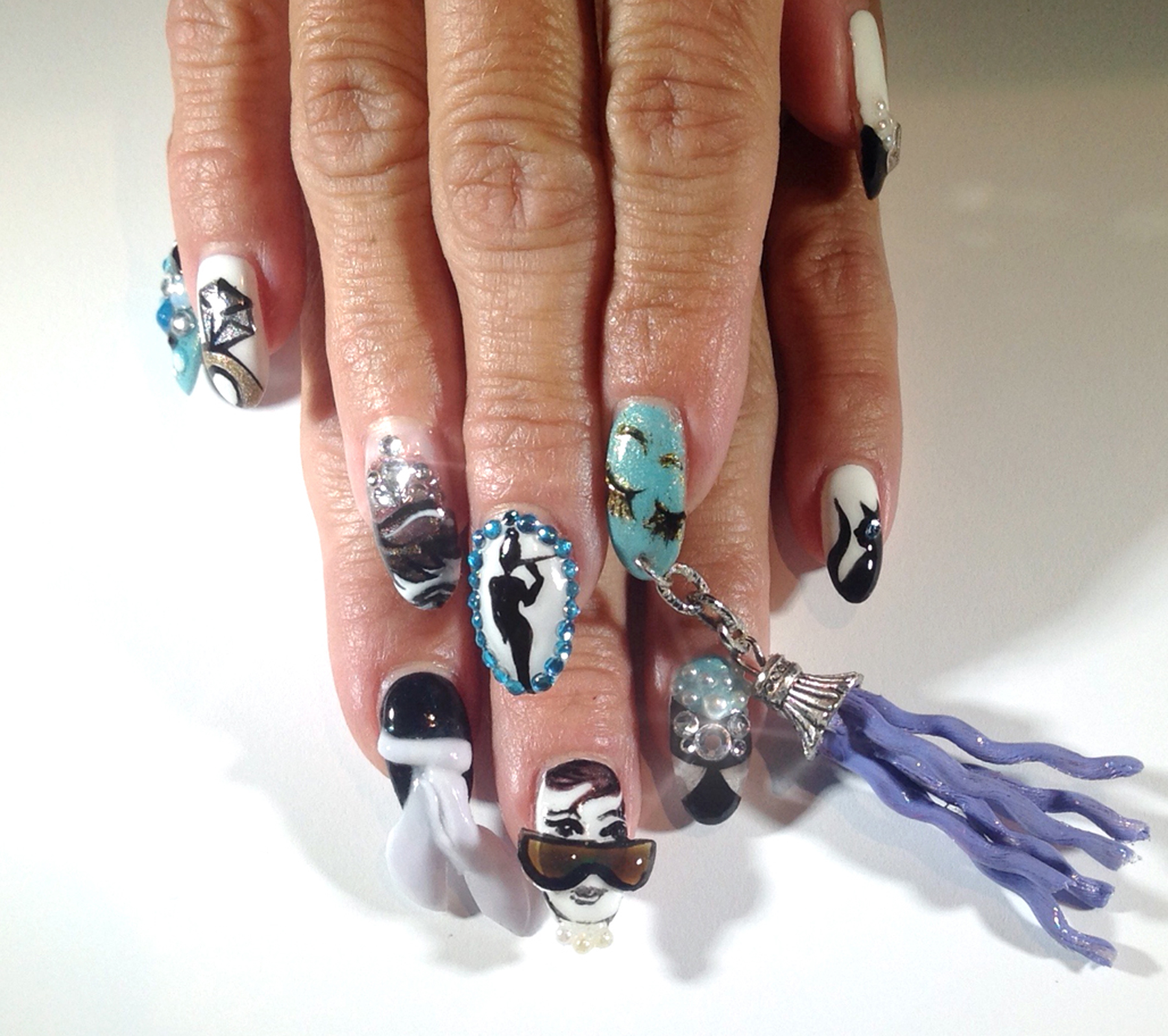 Holly Golightly-Inspired Nails