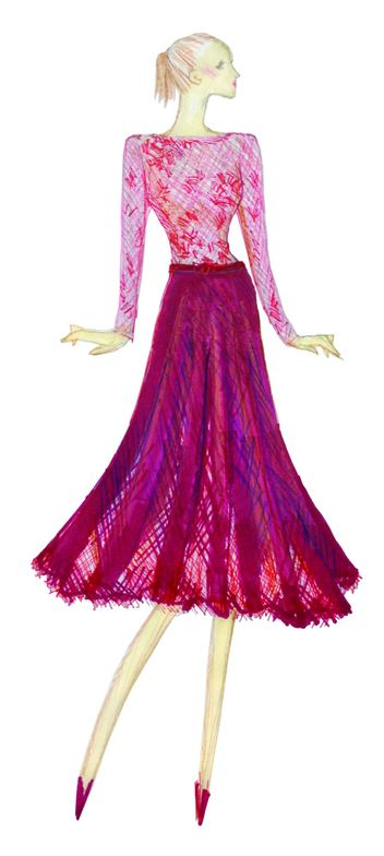 <p>Vivacious, an unruly and wildly deep fuchsia, adds an ebullient sensuality to the palette. <em>Illustration by Tadashi Shoji. Originally appeared in The Pantone Fashion Color Report Fall 2013.</em></p>