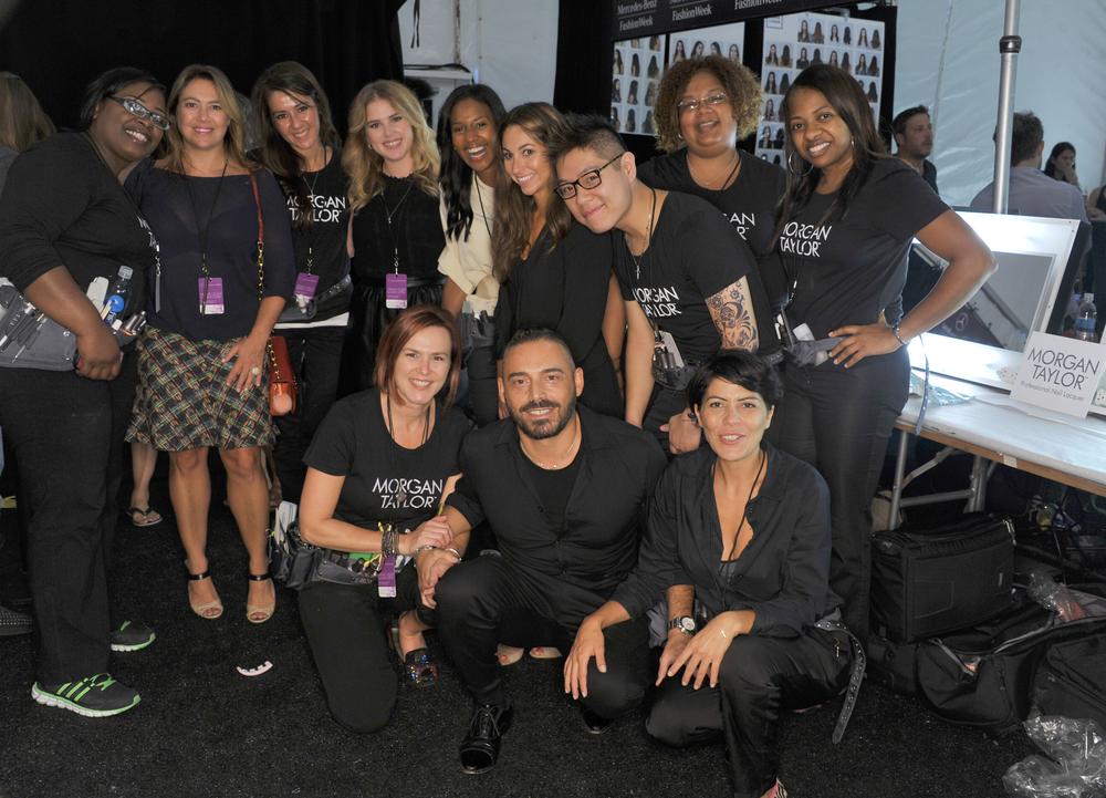 <p>The Morgan Taylor team at NYFW.</p>