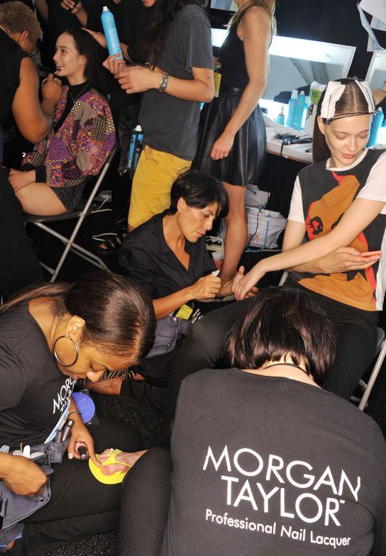 <p>Backstage with Morgan Taylor at NYFW. Photo courtesy of Morgan Taylor.</p>