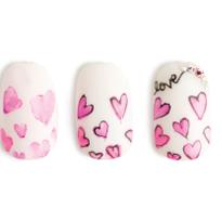 Nail Art Studio: Watercolor Hearts