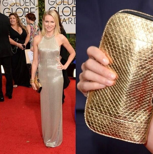 <p>Naomi Watts wore OPI on her nails for a clean Golden Globes look. Image via @tlsutter.</p>