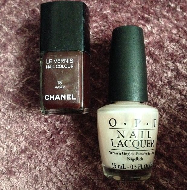 <p>Celebrity manicurist Tracey Sutter shared the products she used to create Naomi Watts' nails for the Golden Globes: OPI's Bubble Bath on her hands and Chanel Vamp on her toes. Image via @tlsutter.</p>