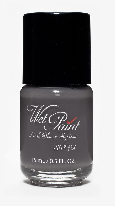 <p><strong>Wet Paint Nail Glaze System</strong>&rsquo;s Moonstone is a Charcoal Grey SPFX sheer top coat color polish works great&nbsp;over any of your polishes to give a goth, vampy finish or can be used alone for a sheer grey color.</p>
