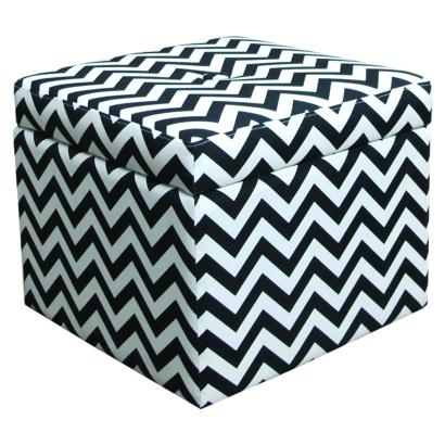 <p>Need some extra storage space? Leave it to target.com to come up with a piece of furniture that is as stylish as it is utilitarian. This ottoman comes in the zigzag pattern we are seeing on so many nails. The best part is it opens up to allow for extra storage. Place it in your waiting area and fill with excess magazines. This ottoman is a life and space saver for only $69.99.</p>