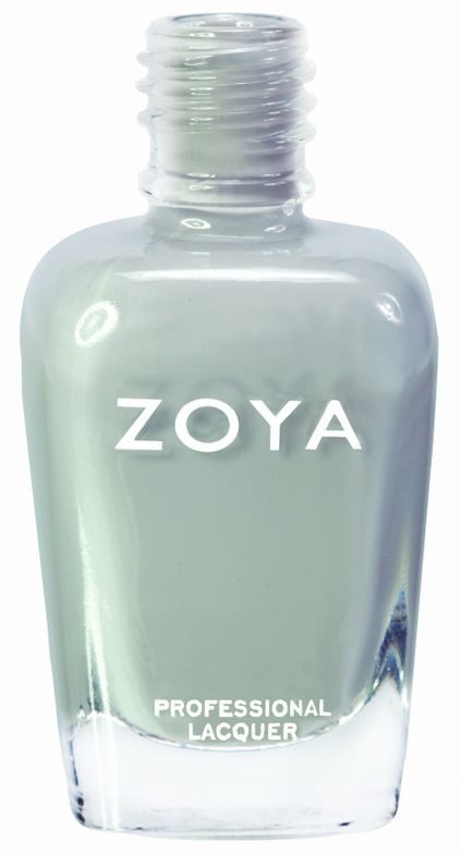 <p><strong>Zoya Nail Polish</strong> in Dove is a soft, delicate light neutral grey with an opaque, glossy cream finish.</p>