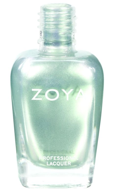 <p><strong>Zoya Nail Polish</strong> in Laney is a silver metallic duochrome.</p>