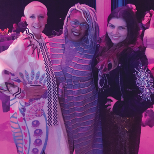 Jan Arnold attended the Beauty Changes Lives event with Chicago nail artist Spifster (center)...