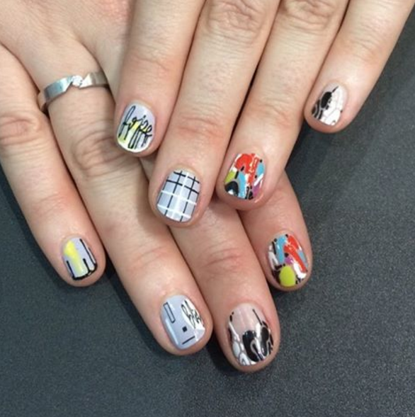 <p>Nail art by Chicago's Spifster Sutton for NAILS' sales rep Shannon Rahn.&nbsp;</p>