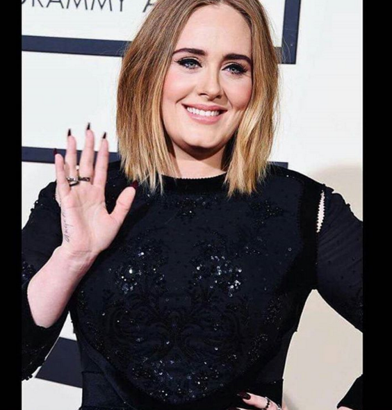 """<p>Almond oxblood nails on Adele for the Grammy by celeb nail tech Kimmie Kyees. Image via<a href=""""https://www.instagram.com/p/BB67MmsrO-M/?taken-by=kimmiekyees"""" target=""""_blank""""> @kimmiekyees</a></p>"""