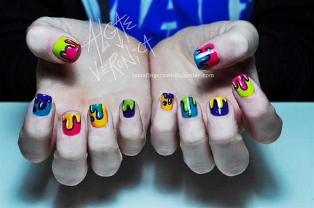 Paint Drip Nail Art