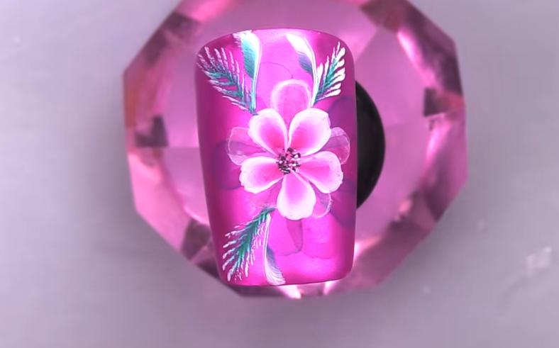 Aquarelle Flower Metallic Nail Art Tutorial