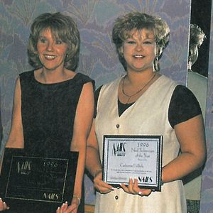 Runners up for Nail Technician of the Year Catherine DePoole (right) and Michele Baker (left)...