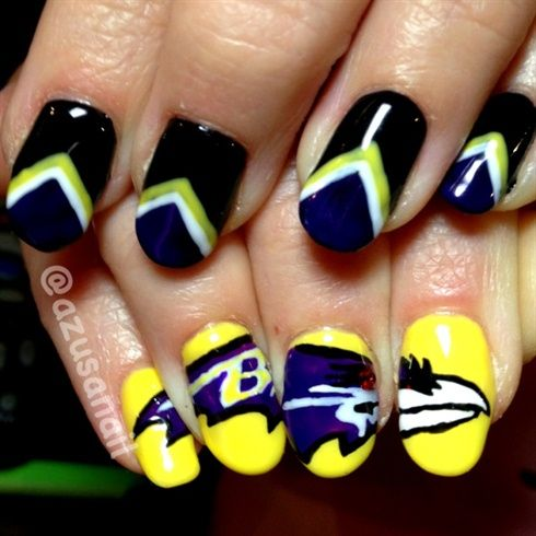 <p>Baltimore Raven nails by&nbsp;Azusa Barbie</p>