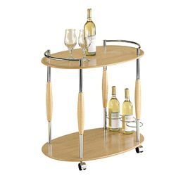<p>If you serve alcohol or coffee in your salon, this modern take on the bar cart is sure to keep your beverages separate from everything else and make guests feel more at home. For $99.99 this is a great piece to keep handy for salon &shy;parties and events, bringing new meaning to the term &ldquo;nail bar.&rdquo; overstock.com.</p>