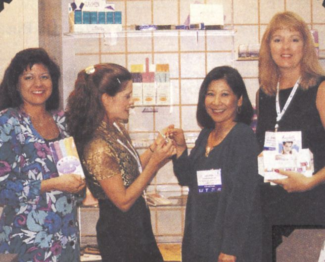 <p>Even on the road, the staff of Rudolph International knows that good grooming is essential, (from left) Chris Cardona, Liz Robbins, Louise Rudolph, and Shelley Taylor-Wilson demonstrate why filing with a &ldquo;Soft Touch&rdquo; is what they do best.</p>