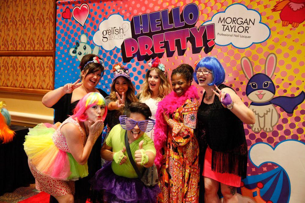 <p>The Gelish team at Gelish's Hello Pretty! photo booth</p>