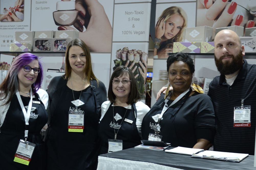 <p>The Bio Sculpture Gel team: Lauren Stanalan, Melanie Visser, Juton Stickland, Kai Keach, and Ricky Coppolella.</p>