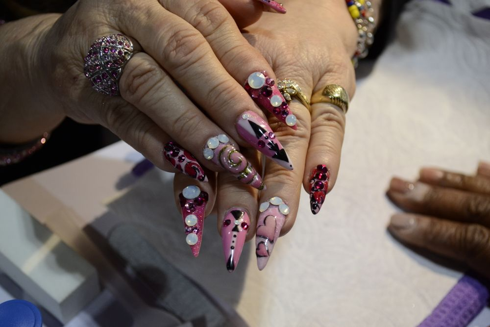 <p>Nails by Blanca Reyes of LeChat.</p>