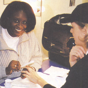 """It was a wonderful experience,"" says nail technician Brenda Thomas, referring to her first..."