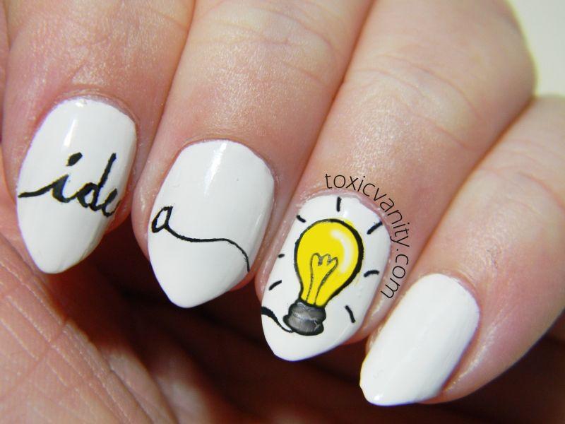 Celebrate Thomas Edison's Birthday With Illuminating Nail Art