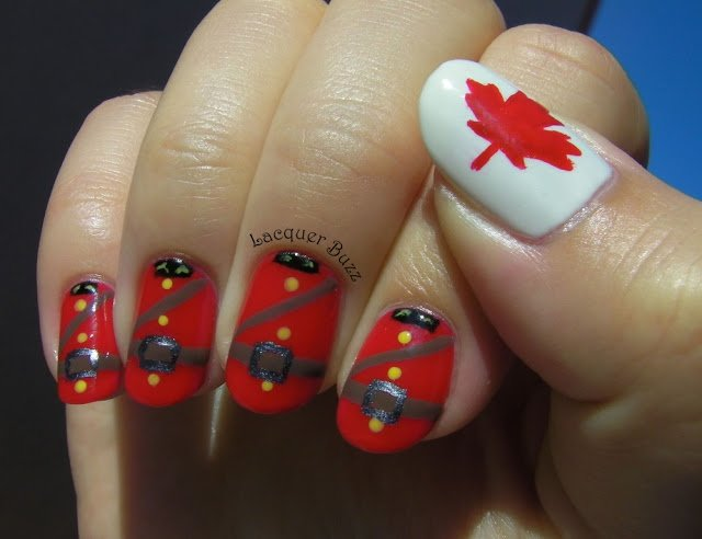 Nail Art for Canada Day