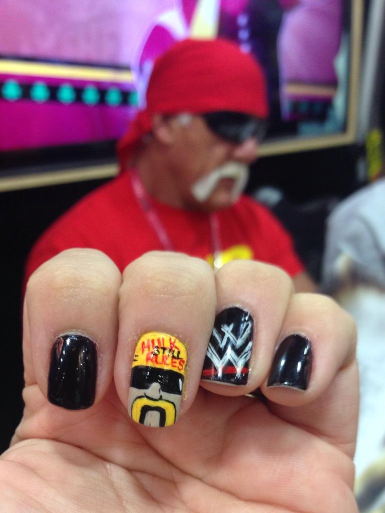 <p>WWE Wrestlemania nails by Michelle Mason, Modesto, Calif.&nbsp;</p>