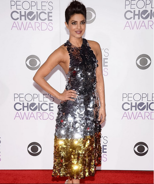 <p>Sabella Snyder used Caption Polish Rough, Tough &amp; In the Buff on Priyanka Chopra for the People's Choice Awards.</p>