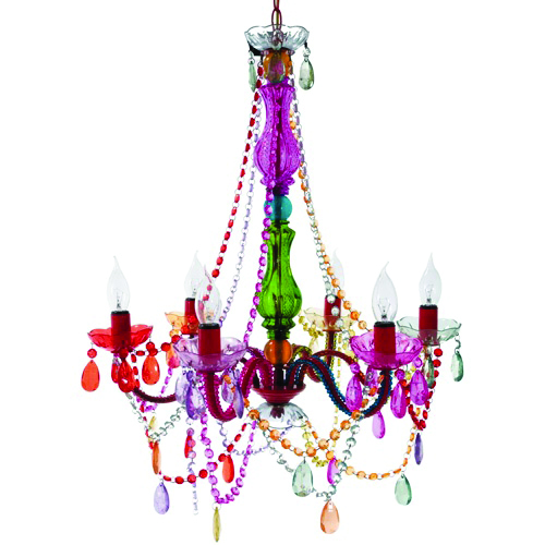 <p>For a little more fun, consider these colorful &shy;options from highfashionhome.com. Small sizes (five arms) are $79 and large sizes (six arms) are $149.</p>