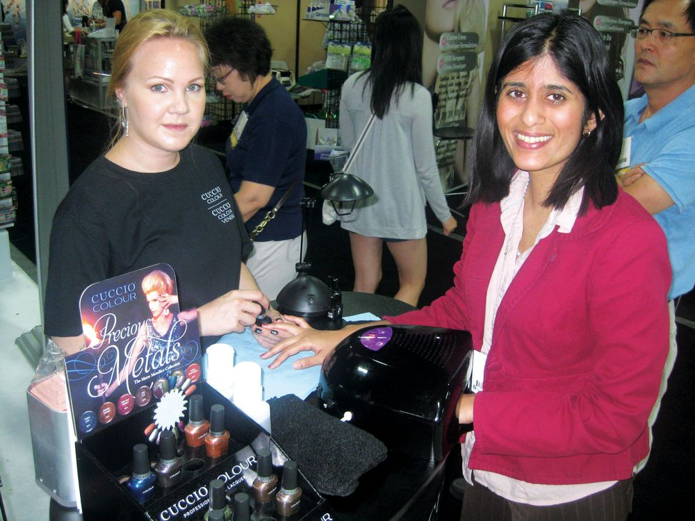 <p>NAILS managing editor Sree Roy tries out Cuccio&rsquo;s new Veneer gel-polish, applied by nail tech Lina Nyberg.</p>