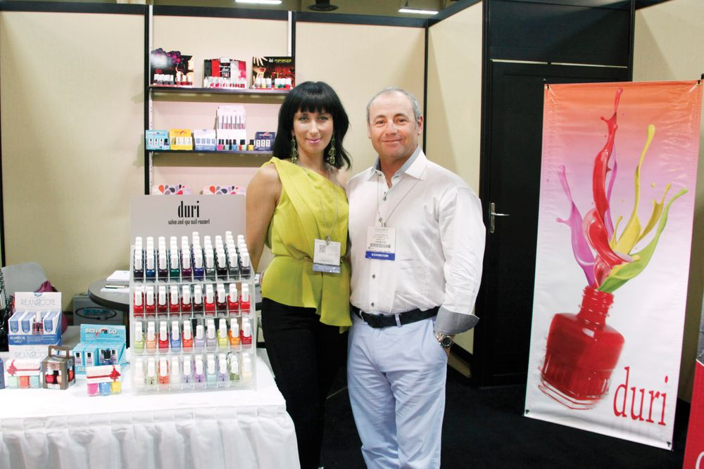 <p>Duri&rsquo;s Tatiana and David Debrow promoted Duri&rsquo;s new holiday polish kits and colors.</p>