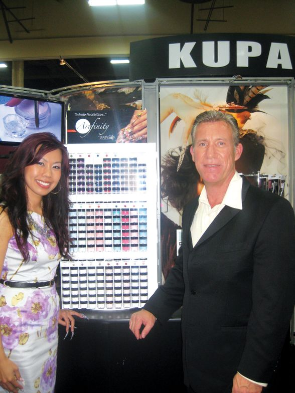 <p>Beautiful Nails by Kupa sported its new logo, which Sindy Mark and Richard Hurter helped design.</p>