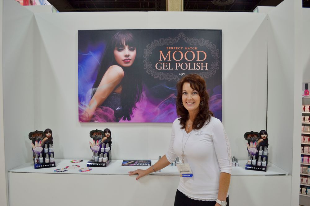 <p>LeChat's Yvette Holt promoted LeChat's new Mood gel polish colors.</p>