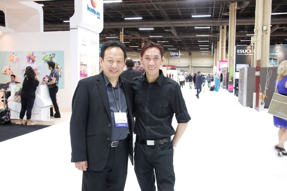 <p>Spotted on the show floor: LeChat's Newton Luu and OPI guest artist Joseph Pham</p>