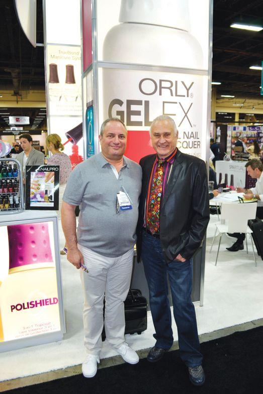 <p>John Galea and Orly&rsquo;s CEO Jeff Pink were looking dapper on the show floor.</p>