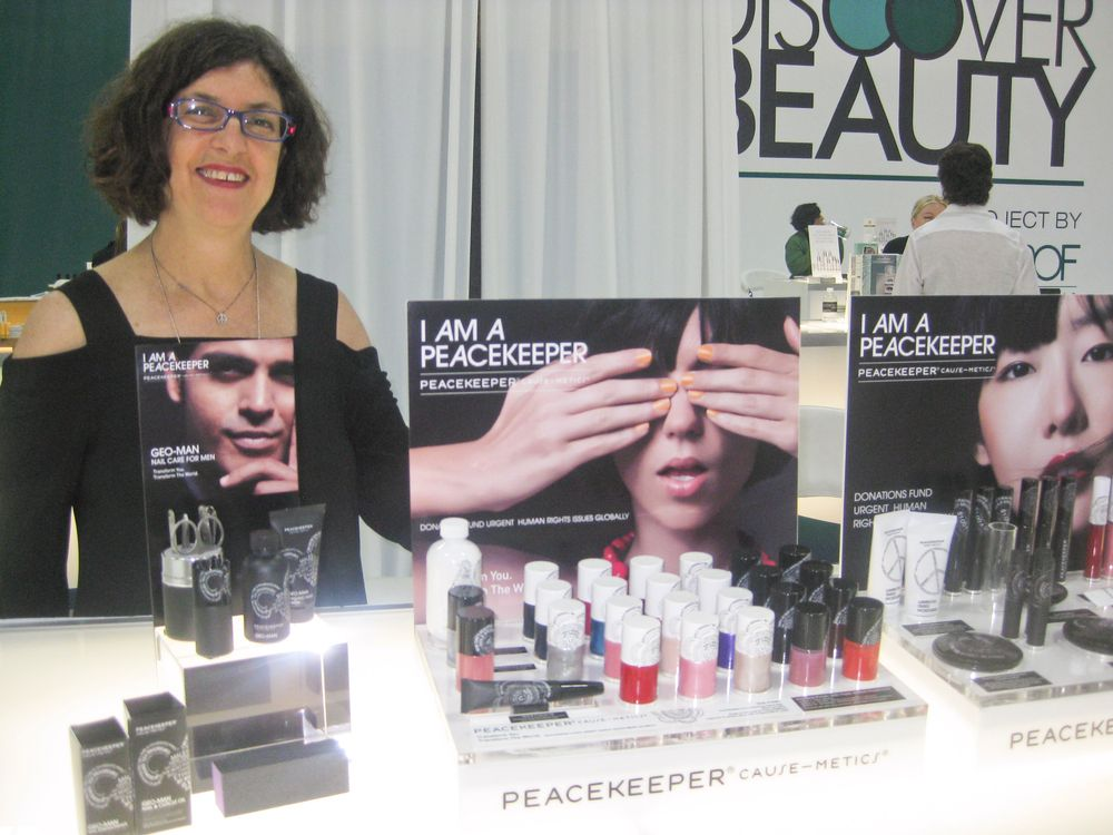 <p>Jody Weiss promoted the I Am A Peacekeeper line of products, which has been in Whole Foods Market for about 10 years and just launched an upscale line for the professional salon market.</p>