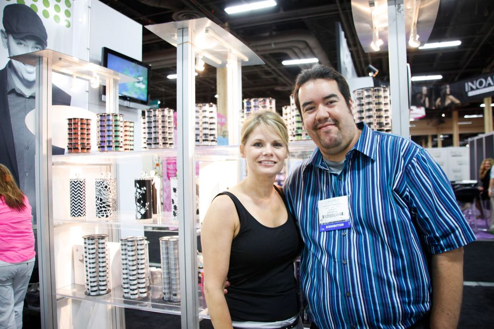<p>Young Nails director of education Tracey Reierson and art director Ramon Hernandez</p>