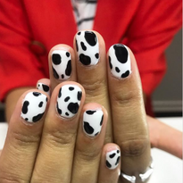 30 Cow Nail Art Designs