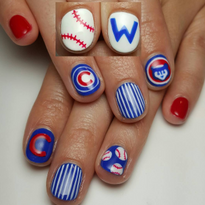 2016 MLB World Series-Inspired Nail Art
