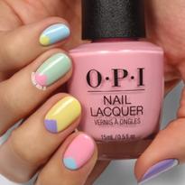 Minimal Geometric Spring Nail Art Tutorial