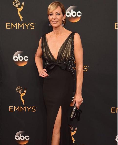 <p>Christina Aviles used Essie Maki Me Happy on nominee Allison Janney.</p>